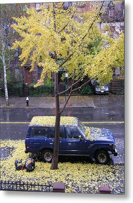 Metal Print featuring the photograph Ginkgo In Fall by Erik Falkensteen