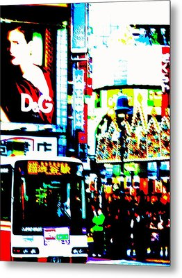 Ginza's Nights  Metal Print by Funkpix Photo Hunter