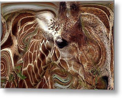 Giraffe Dreams No. 1 Metal Print