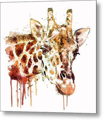 Giraffe Head Metal Print by Marian Voicu