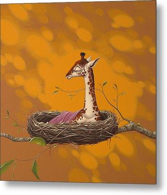 Giraffe Metal Print by Jasper Oostland