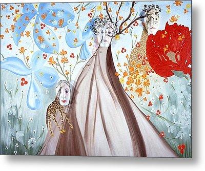 Giraffe Womens Metal Print by Sima Amid Wewetzer