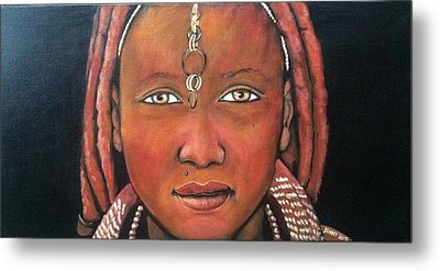 Girl From Africa Metal Print by Jenny Pickens