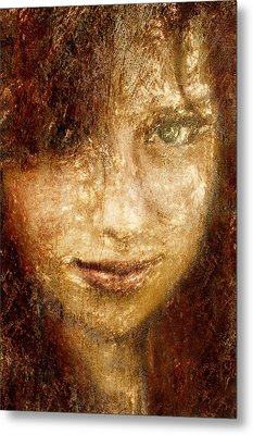 Girl In A Window Metal Print by Jeff  Gettis