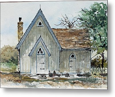 Girl Scout Little House Metal Print by Monte Toon