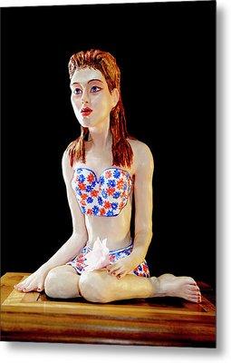 Girl With Lotus 1 Metal Print by Yelena Rubin