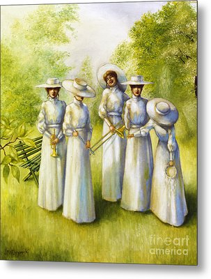 Girls In The Band Metal Print by Jane Whiting Chrzanoska