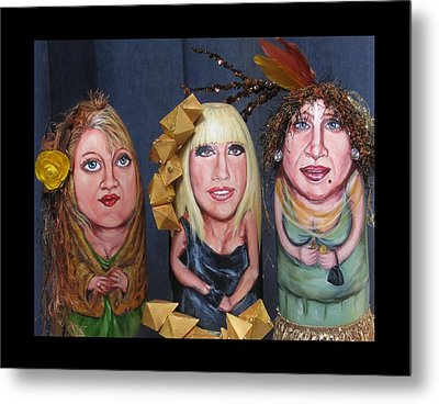 Girls Night Out Metal Print by Cathi Doherty