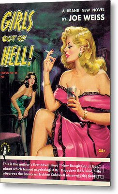 Metal Print featuring the painting Girls Out Of Hell by George Gross