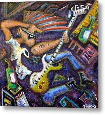 Give Em The Boot - Punk Rock Cubism Metal Print