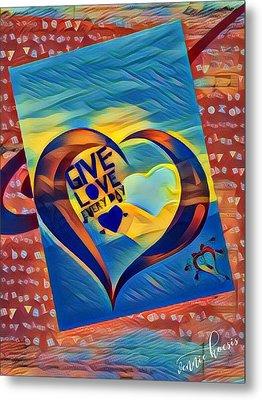 Give Love Metal Print