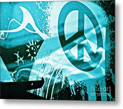 Give Peace A Shirt Metal Print by Chuck Taylor