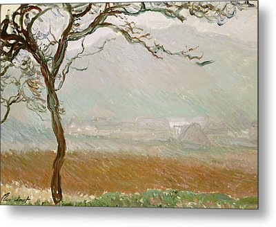 Giverny Countryside Metal Print by Claude Monet