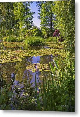Giverny France - Claude Monet's Pond  Metal Print by Allen Sheffield