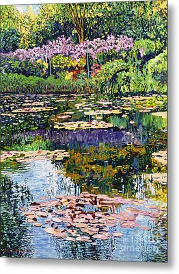 Giverny Reflections Metal Print by David Lloyd Glover