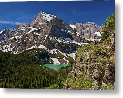 Metal Print featuring the photograph Glacier Backcountry 2 by Gary Lengyel