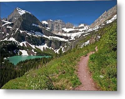 Metal Print featuring the photograph Glacier Backcountry Trail by Gary Lengyel