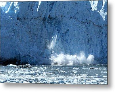 Glacier Calving Metal Print by Dave Clark