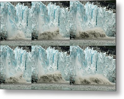 Glacier Calving Sequence 3 Metal Print