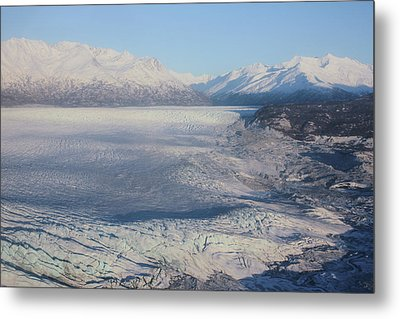 Metal Print featuring the photograph Glacier In Alaska by Jingjits Photography