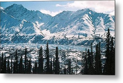 Glacier  Mountains Metal Print by Judyann Matthews