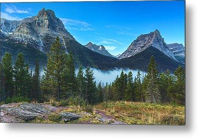 Glacier Mountains Metal Print by Stuart Deacon