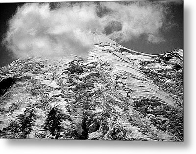 Metal Print featuring the photograph Glacier On Mt Rainier by Lori Seaman