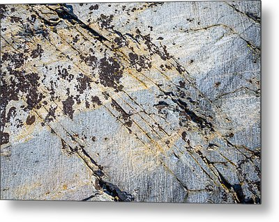 Metal Print featuring the photograph Glacier-polished Metamorphic Rock by Alexander Kunz