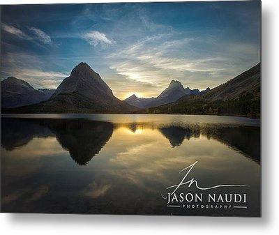 Glacier Sunset Metal Print by Jason Naudi