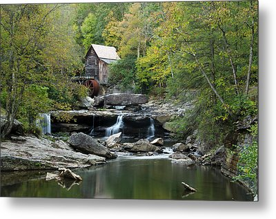 Glade Creek Grist Mill Metal Print by Ann Bridges