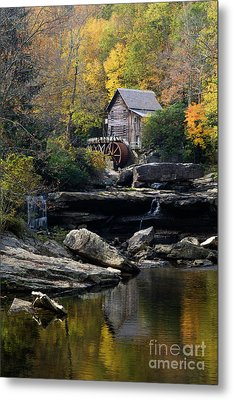 Metal Print featuring the photograph Glade Creek Grist Mill - D009975 by Daniel Dempster