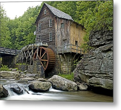 Glade Creek Grist Mill Located In Babcock State Park West Virginia Metal Print