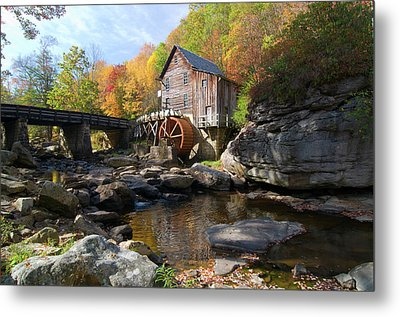 Metal Print featuring the photograph Glade Creek Grist Mill by Steve Stuller