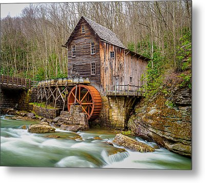 Metal Print featuring the photograph Glade Creek Grist Mill by Steve Zimic