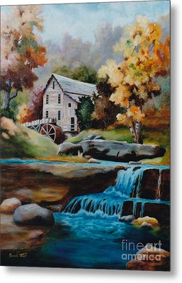 Glade Creek Mill Metal Print by Brenda Thour