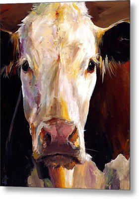 Gladys The Cow Metal Print by Cari Humphry