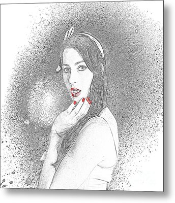 Glamour Art Pin Up Metal Print by Jorgo Photography - Wall Art Gallery