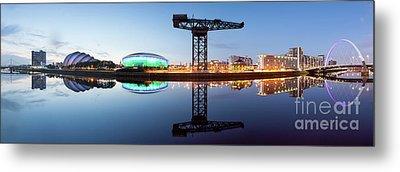 Glasgow Skyline Panorama Metal Print by John Farnan