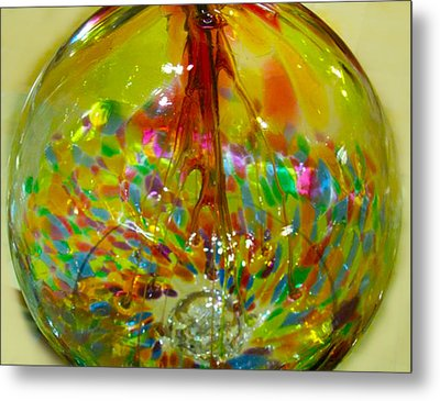Glass Balloon Metal Print by ARTography by Pamela Smale Williams