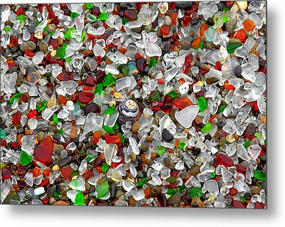 Glass Beach Fort Bragg Mendocino Coast Metal Print by Christine Till