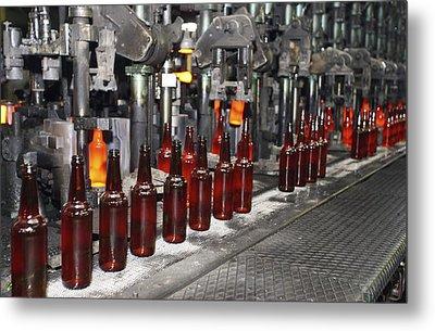 Glass Bottle Production Line Metal Print by Ria Novosti