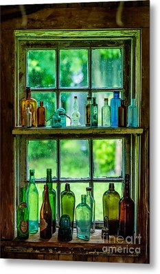 Glass Bottles Metal Print