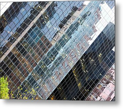 Glass Buildings 4 Metal Print by Robert Knight