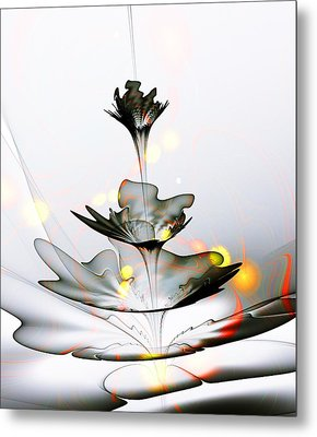 Metal Print featuring the mixed media Glass Flower by Anastasiya Malakhova