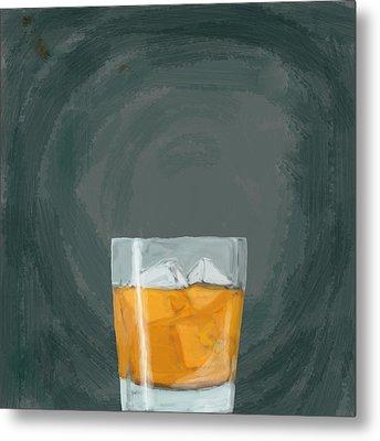 Glass, Ice,  Metal Print