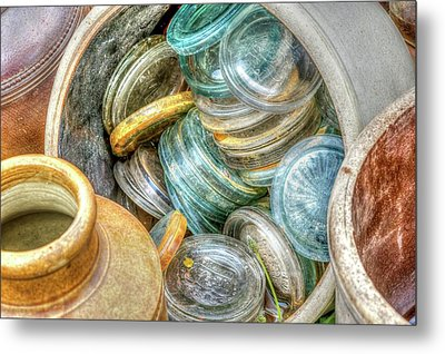 Glass Lids Metal Print by Irwin Seidman