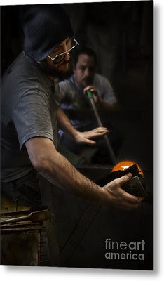 Glass Maker Metal Print
