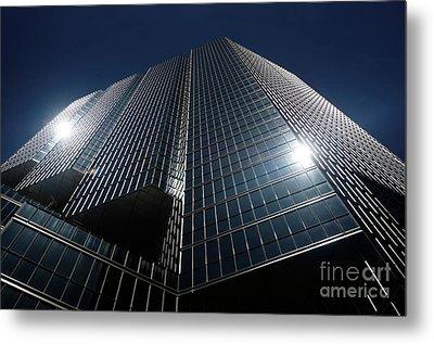 Glass Office Building Metal Print by Oleksiy Maksymenko