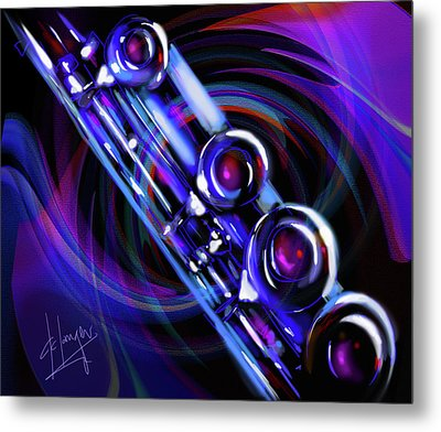 Metal Print featuring the painting Glassical Flute by DC Langer
