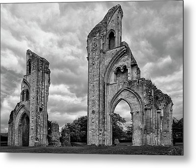 Metal Print featuring the photograph Glastonbury Abbey by Elvira Butler